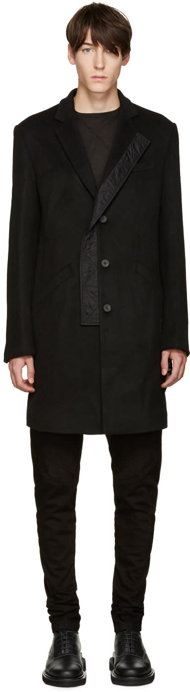D.gnak By Kang.d Black Double-breasted Coat
