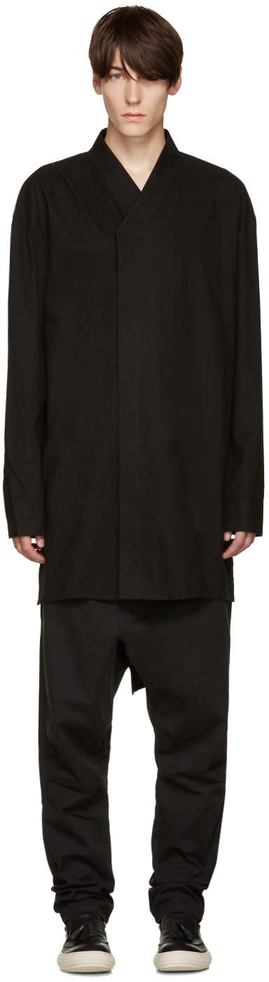 D.gnak By Kang.d Black Oversized Shirt