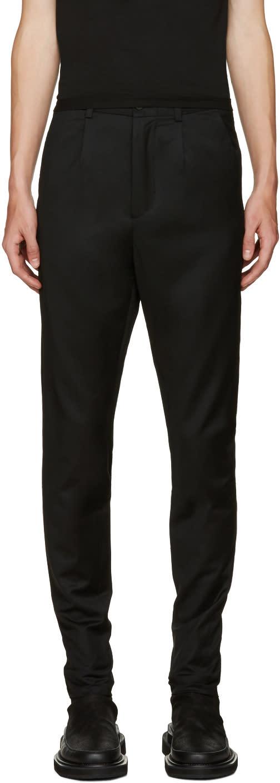 D.gnak By Kang.d Black Zip Cuffs Trousers