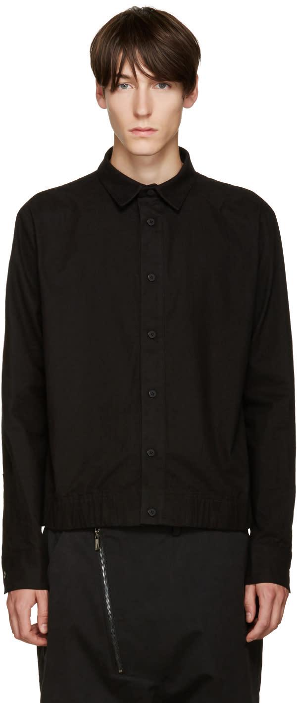 D.gnak By Kang.d Black Elasticized Hem Shirt