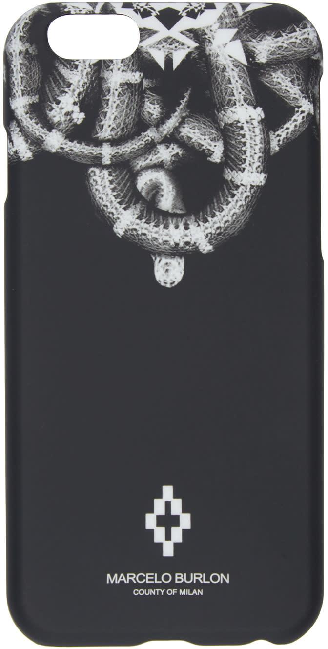 Marcelo Burlon County Of Milan Black Aconcagua Iphone 6 Case