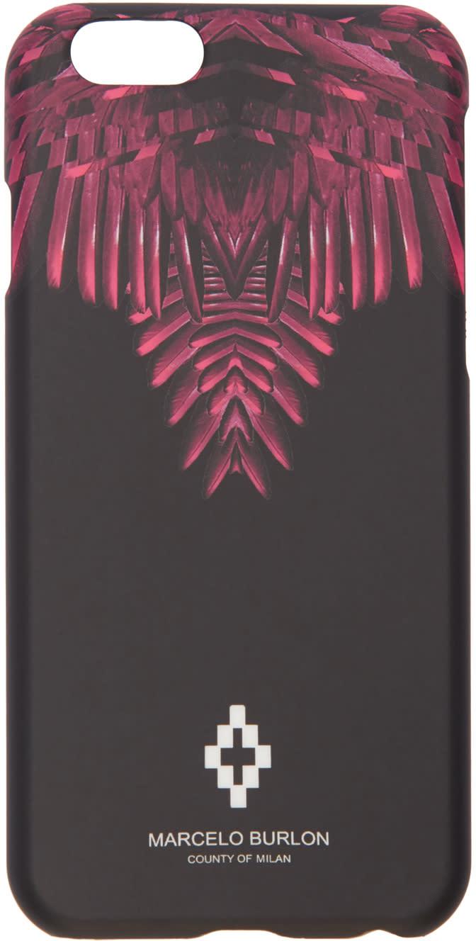 Marcelo Burlon County Of Milan Black Naibi Iphone 6 Case