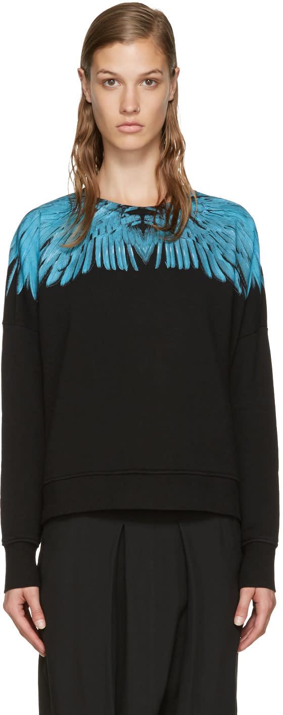 Marcelo Burlon County Of Milan Black Oversized Daina Sweatshirt