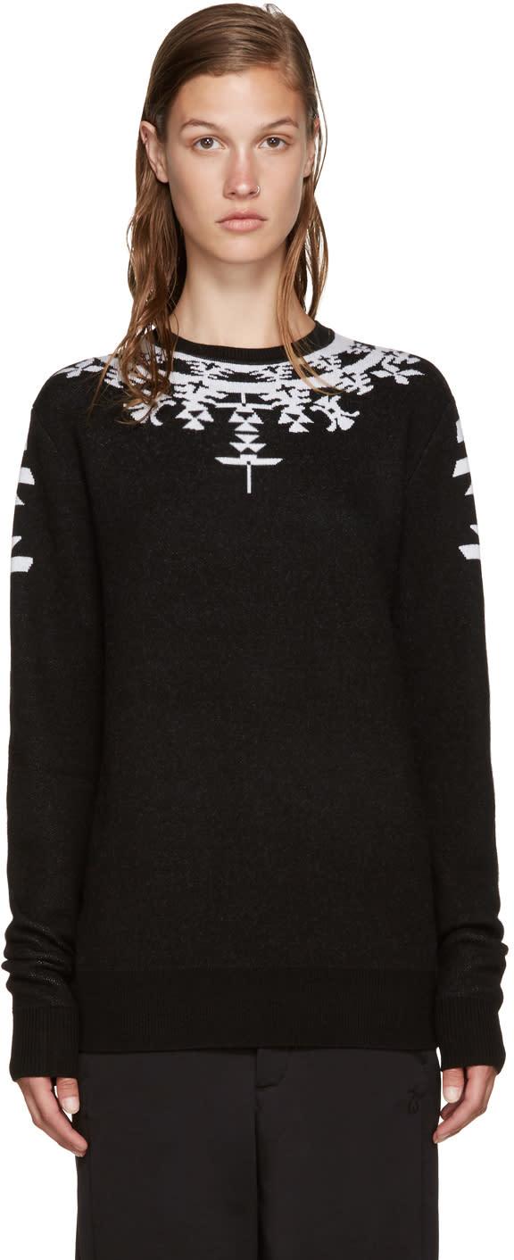 Marcelo Burlon County Of Milan Black Huemules Sweater