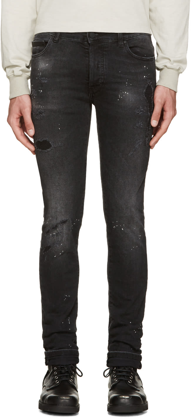 Marcelo Burlon County Of Milan Black Distressed Jeans