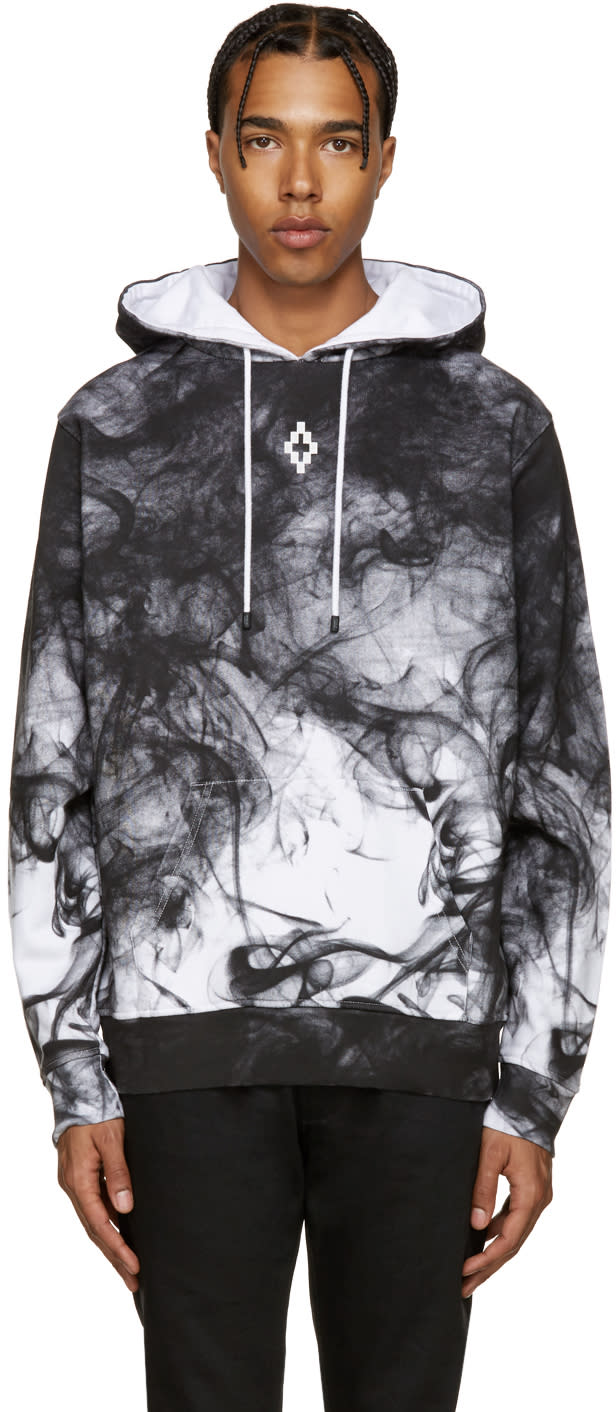 Marcelo Burlon County Of Milan White and Black Champaqui Hoodie