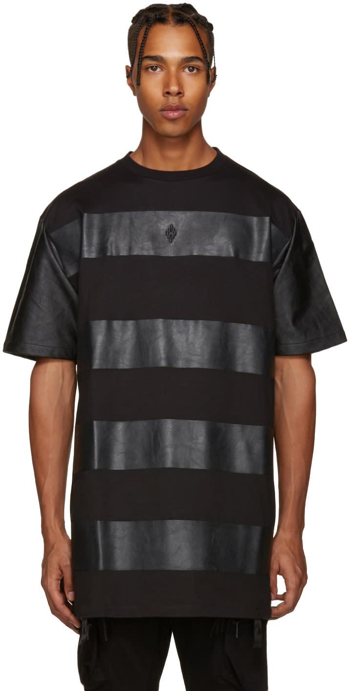 Marcelo Burlon County Of Milan Black Panelled T-shirt