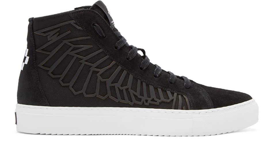 Marcelo Burlon County Of Milan Black Maipu High-top Sneakers