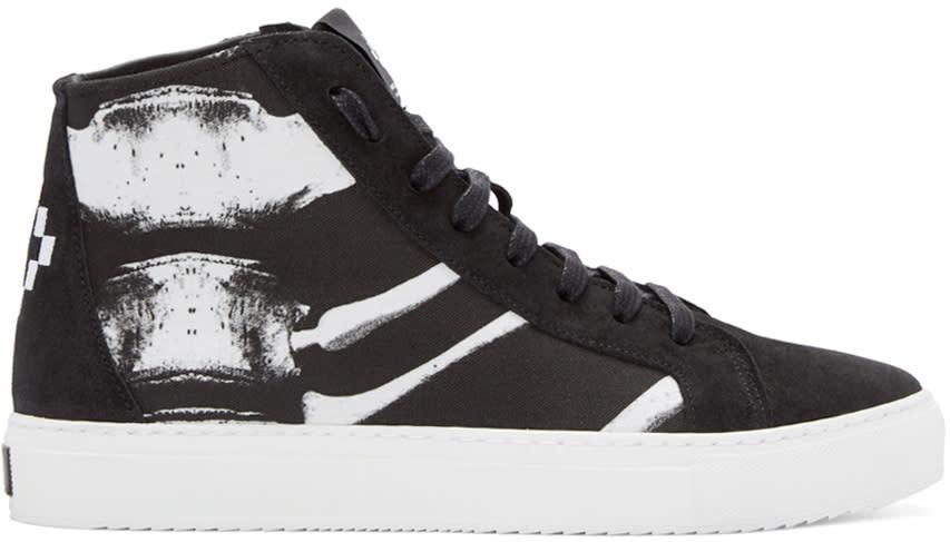 Marcelo Burlon County Of Milan Black Skeleton High-top Sneakers