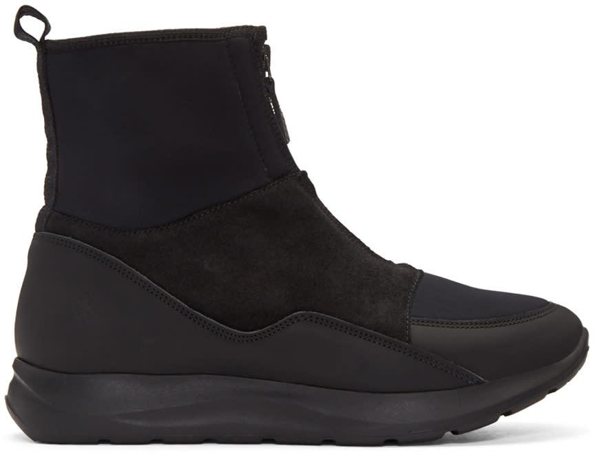 Marcelo Burlon County Of Milan Black Neoprene Running High-top Sneakers