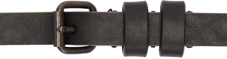 Haider Ackermann Black Leather Skinny Belt