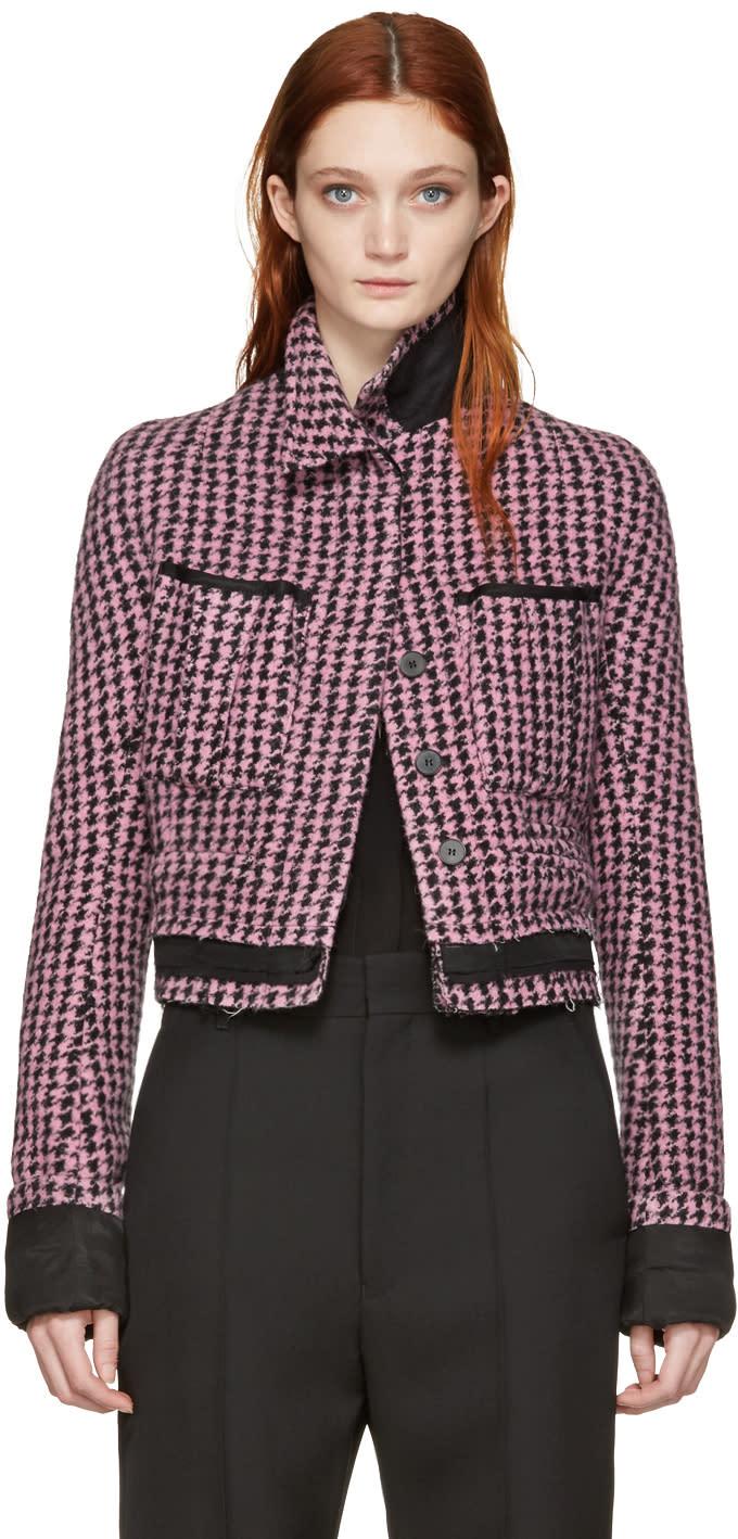 Haider Ackermann Pink Houndstooth Jacket
