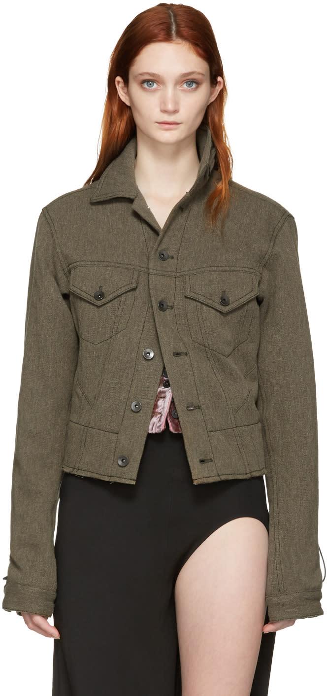 Haider Ackermann Khaki Wool and Linen Jacket
