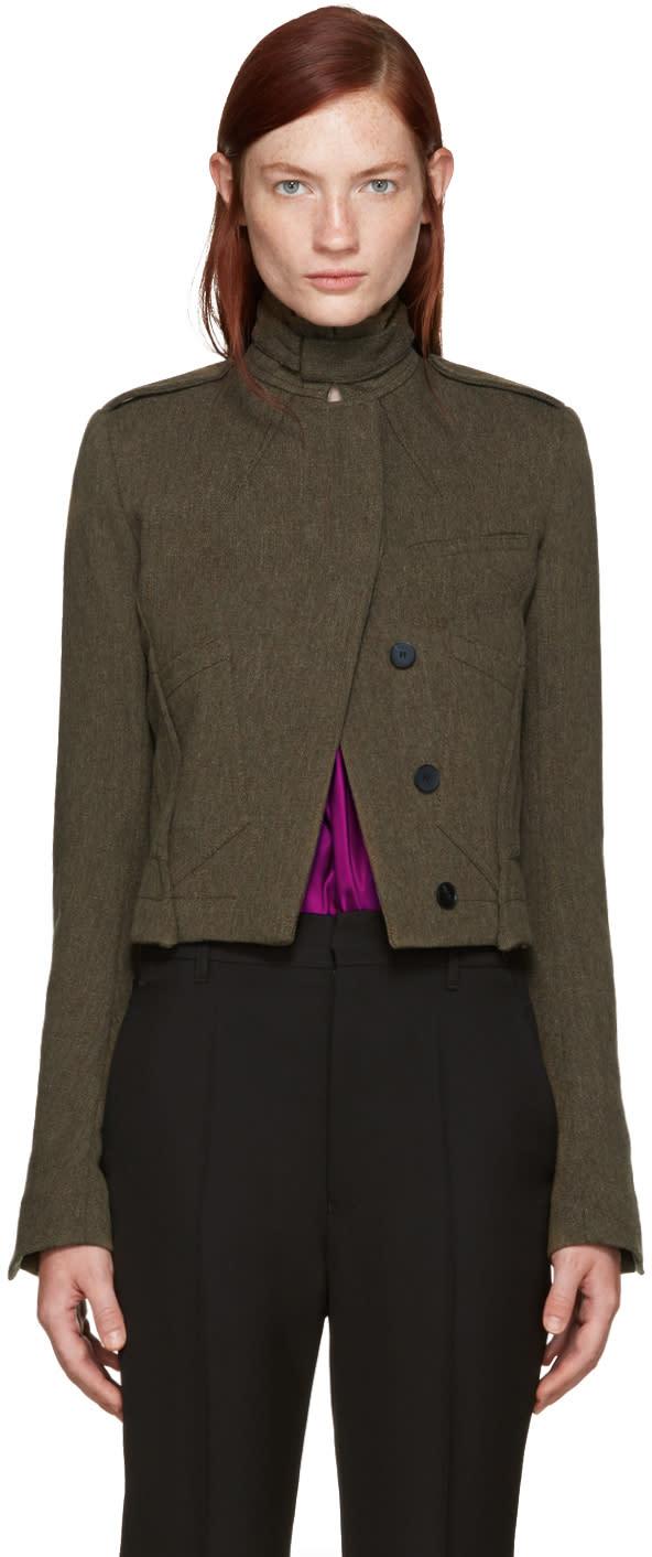 Haider Ackermann Khaki Off-set Pocket Jacket