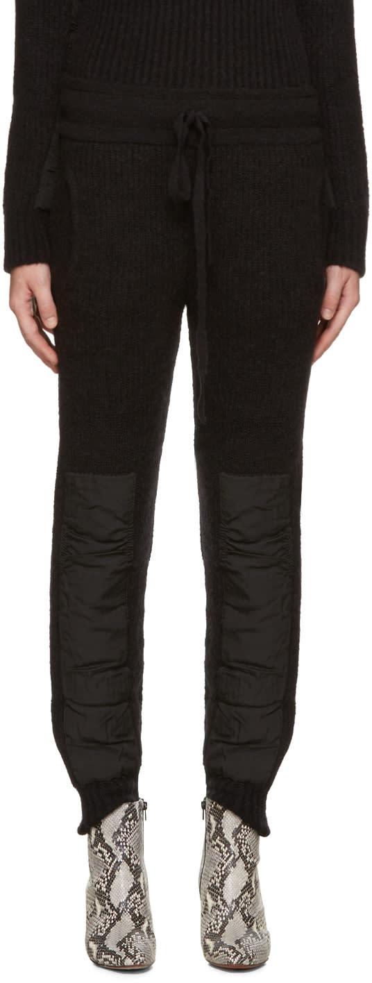 Haider Ackermann Black Mohair Lounge Pants