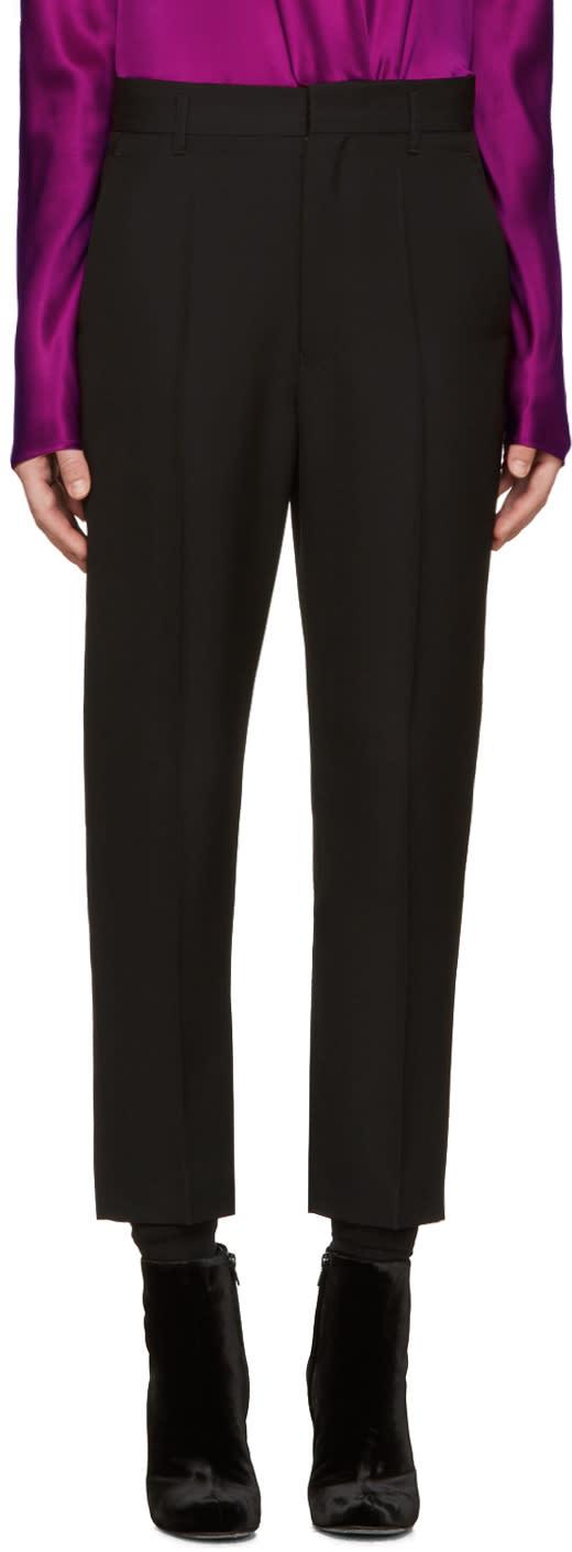 Haider Ackermann Black Wool Orbai Trousers