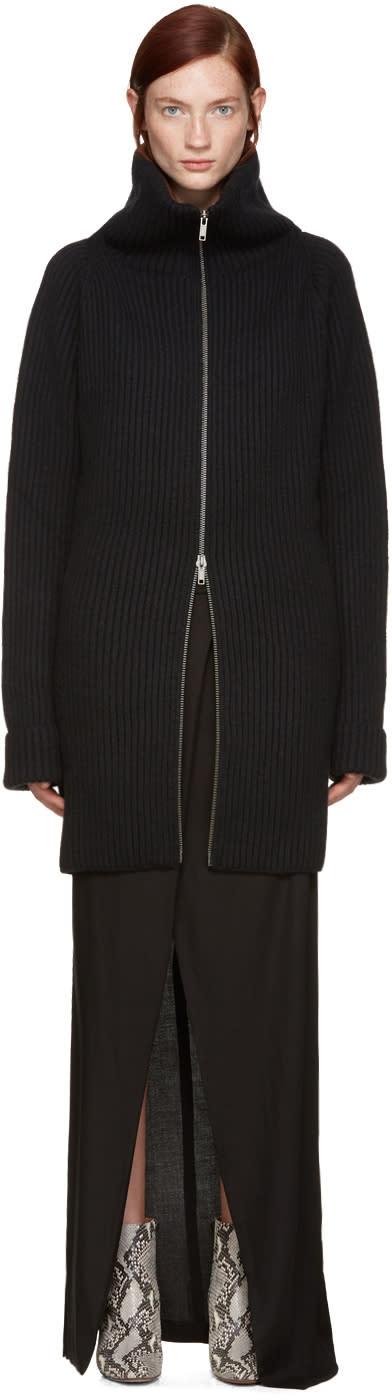 Haider Ackermann Black Zip Cardigan