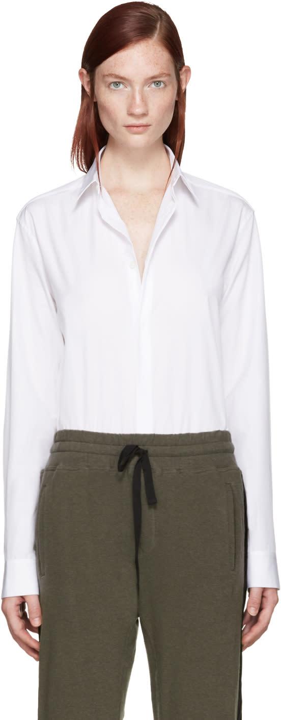Haider Ackermann White Poplin Shirt