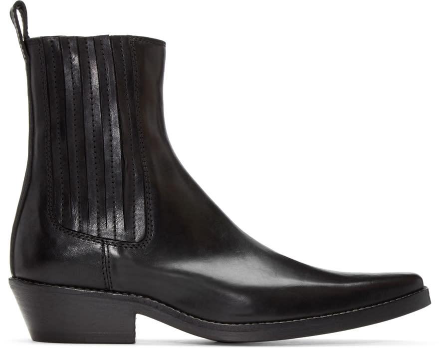 Haider Ackermann Black Pearl Chelsea Boots
