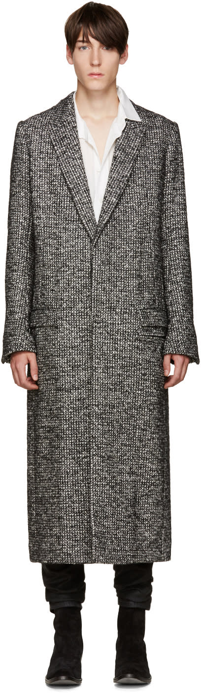 Haider Ackermann Black Tweed Dupre Coat
