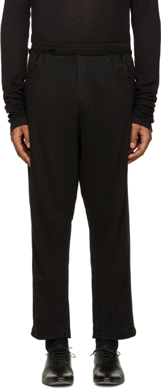 Haider Ackermann Black Cropped Lounge Pants