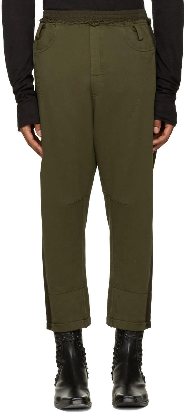Haider Ackermann Khaki Cropped Lounge Pants