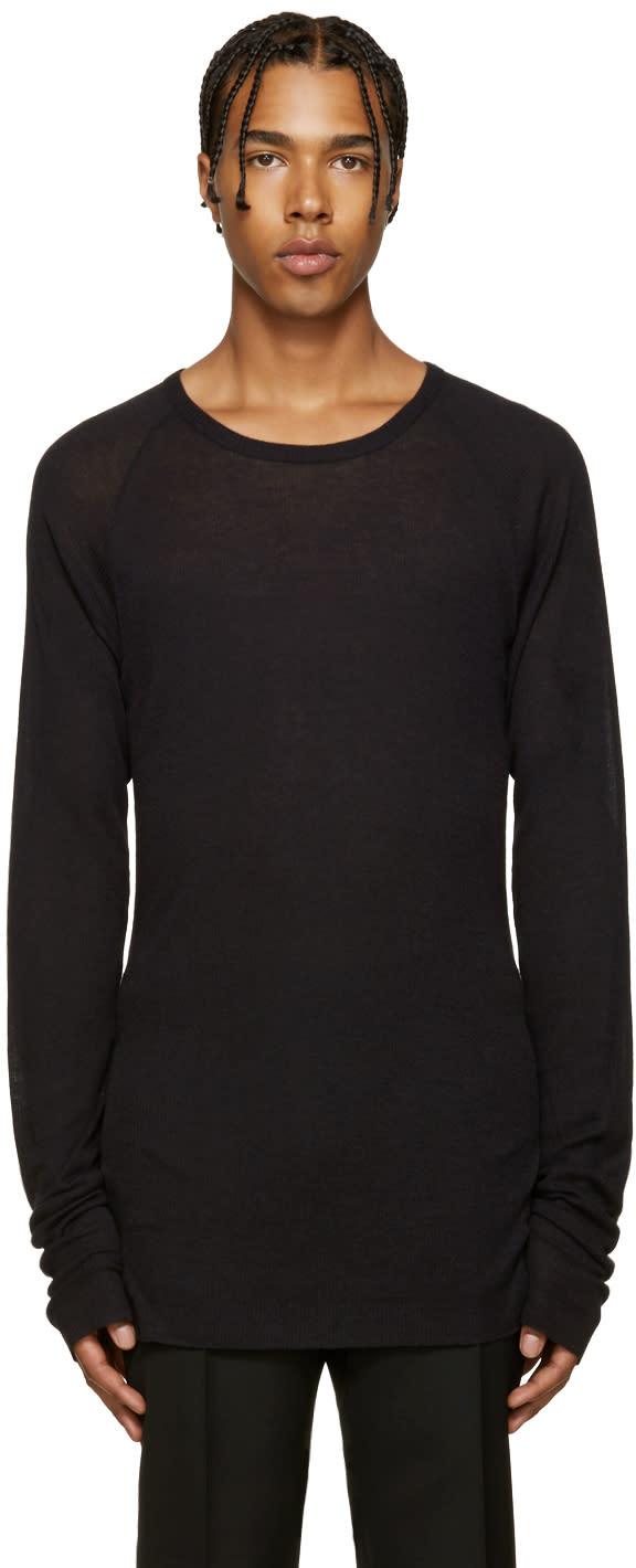 Haider Ackermann Black Ribbed T-shirt