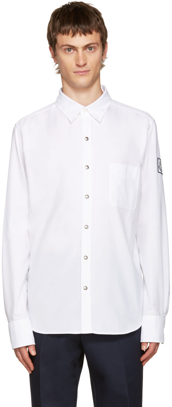 Moncler Gamme Bleu White Button-down Shirt