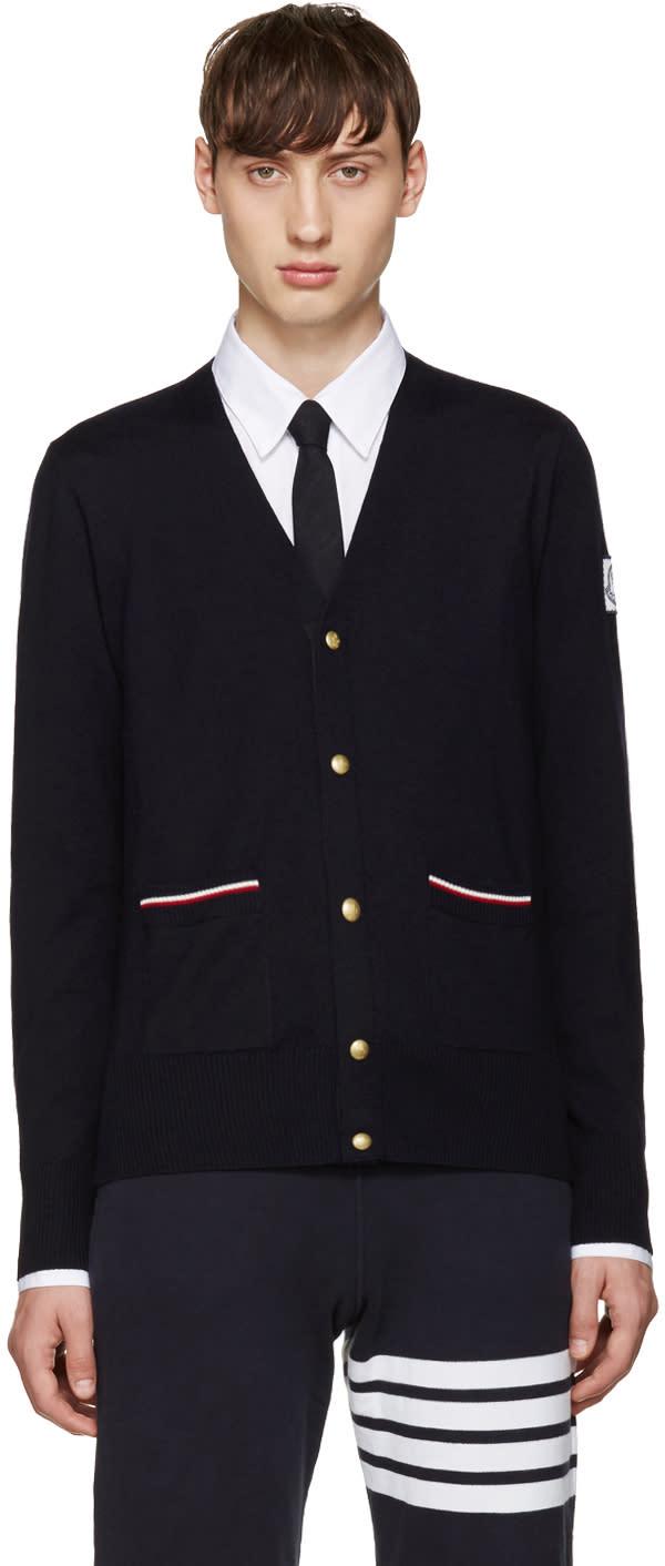 Moncler Gamme Bleu Navy Double Pocket Cardigan