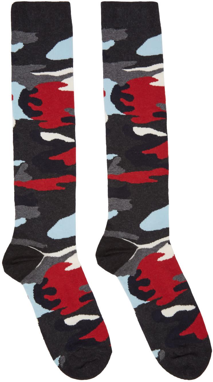 Moncler Gamme Bleu Multicolor Camo Socks