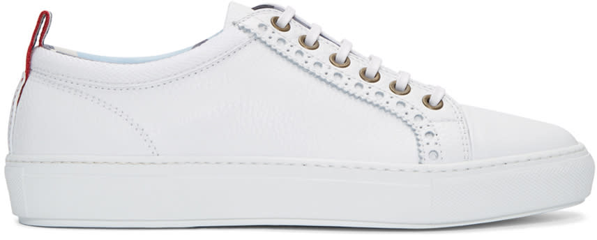 Moncler Gamme Bleu White Leather Sneakers