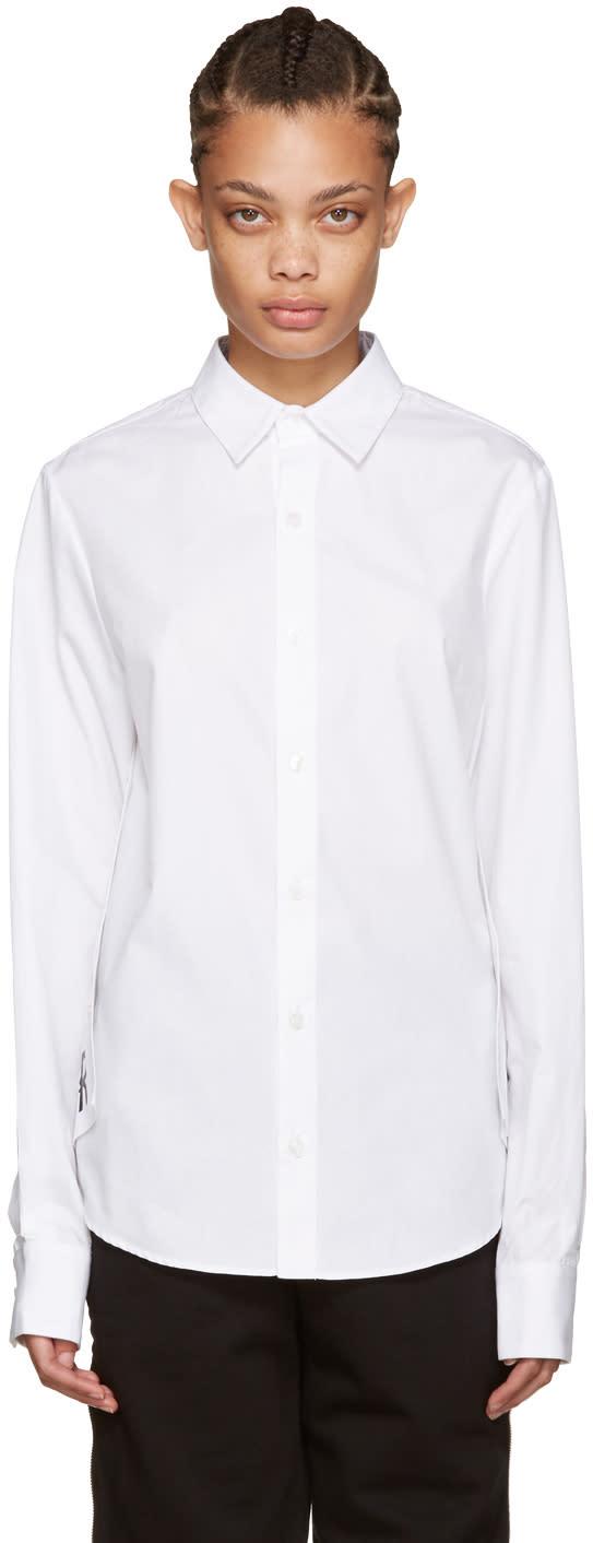 Hood By Air White Poplin Stingray Shirt