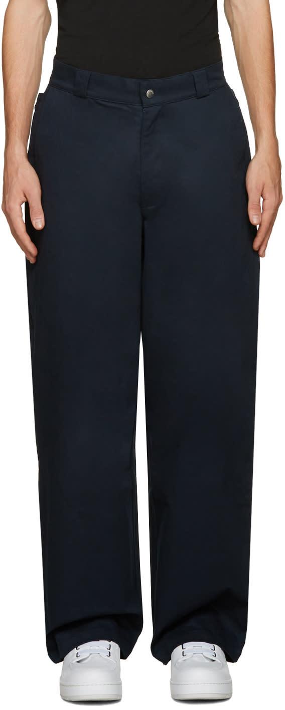 Hood By Air Navy Uniform Sag Trousers