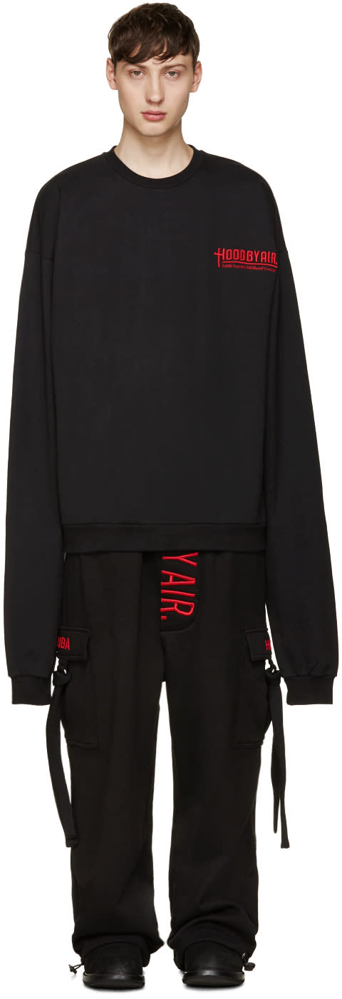 Hood By Air Black Oversized Pullover