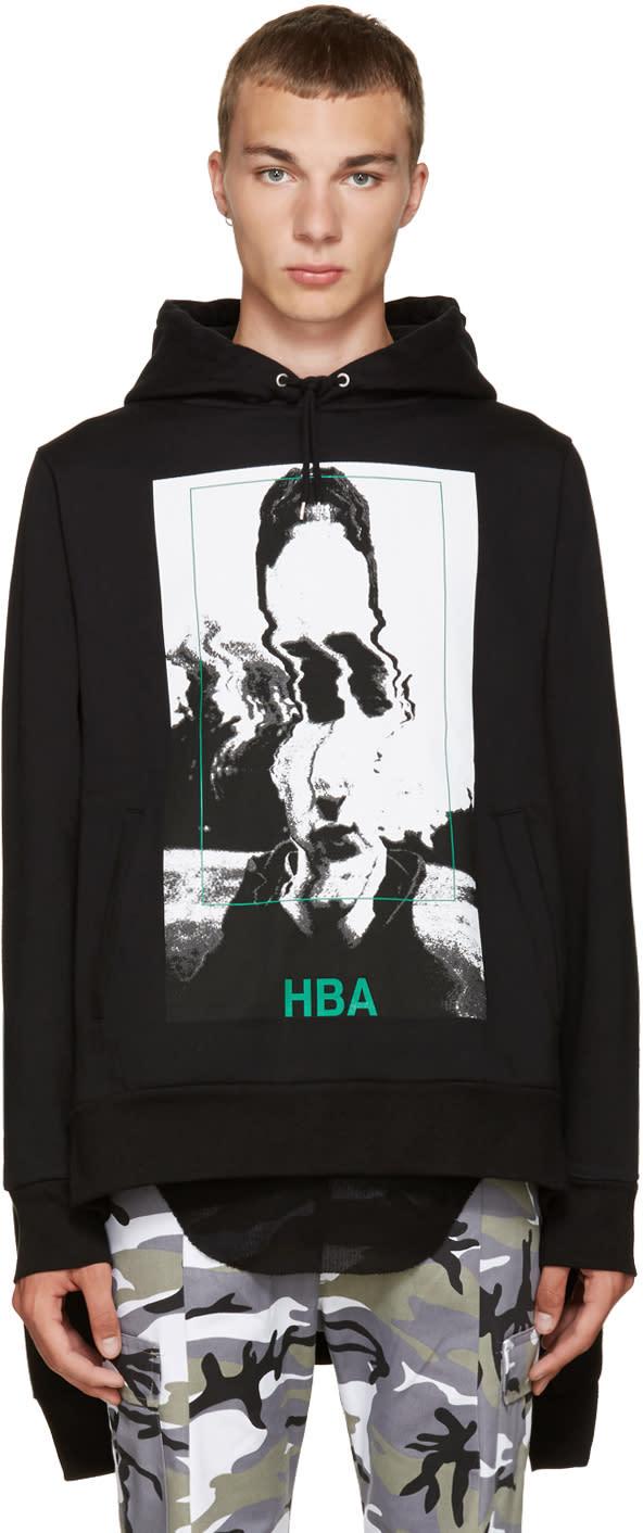 Hood By Air Black Montgomery Double Hoodie
