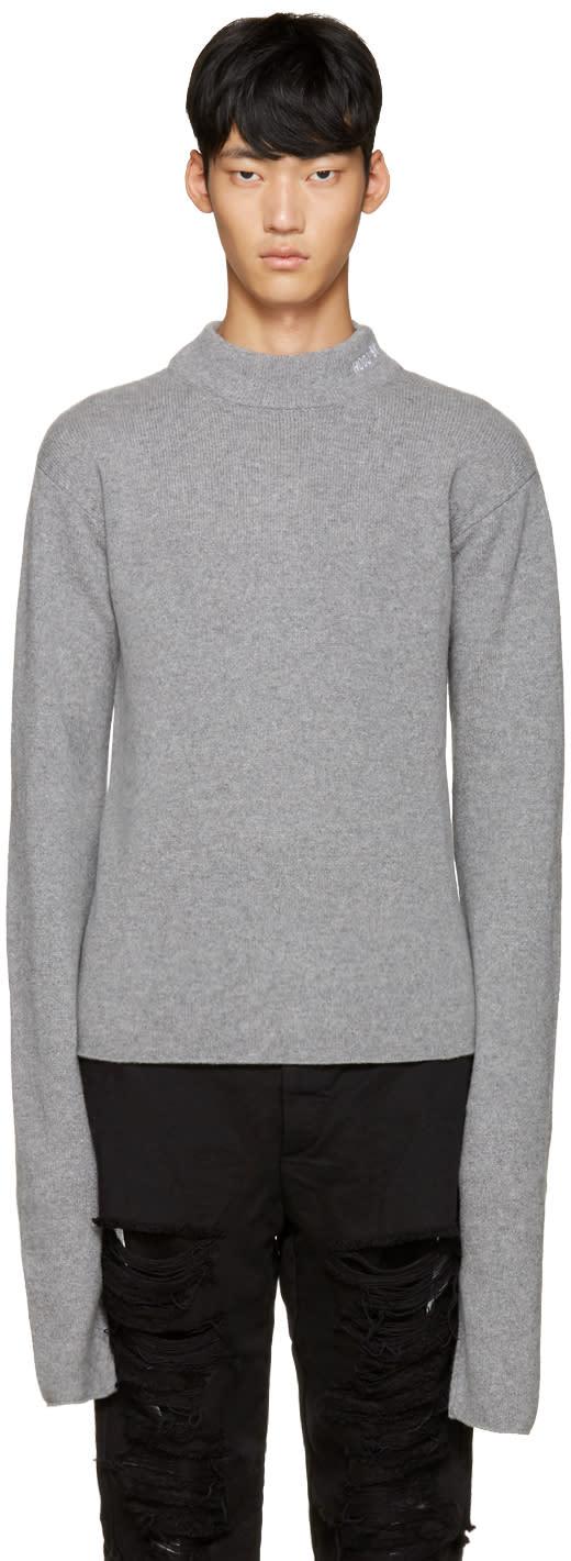 Hood By Air Grey Logo Turtleneck