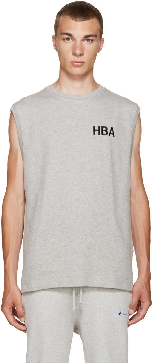 Hood By Air Grey Logo Tank Top