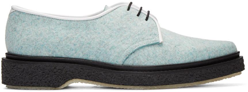 Image of Adieu Blue Felted Wool Derbys
