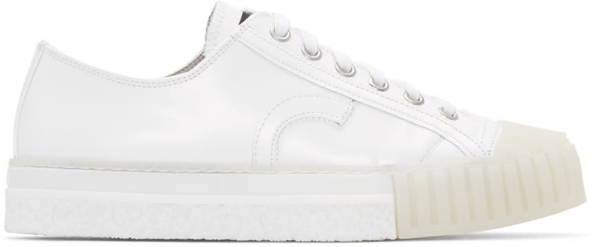 Adieu White Leather Type W.o. Sneakers
