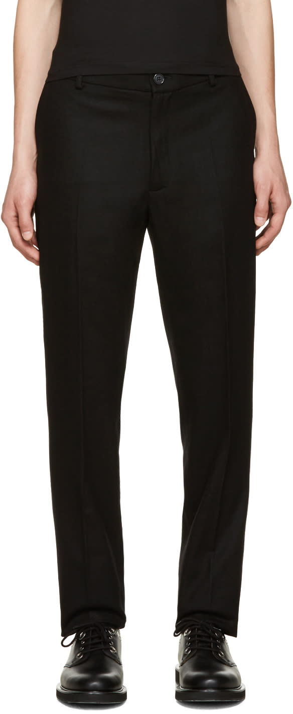 Giuliano Fujiwara Black Wool Trousers
