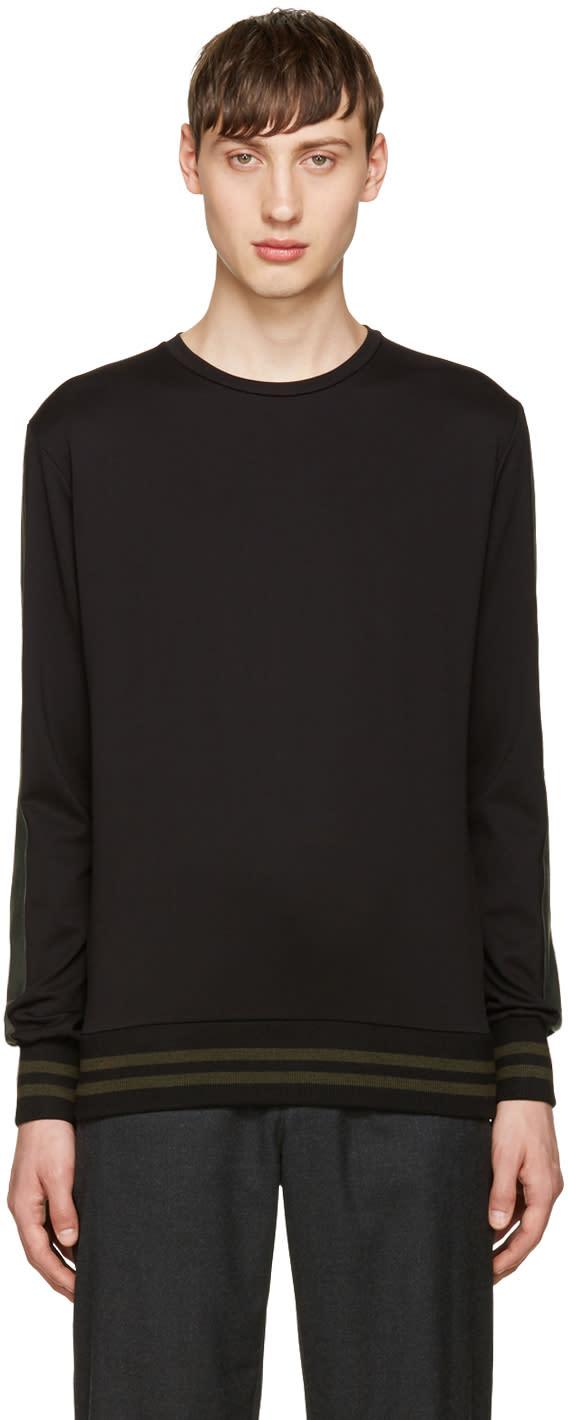 Giuliano Fujiwara Black Striped Pullover
