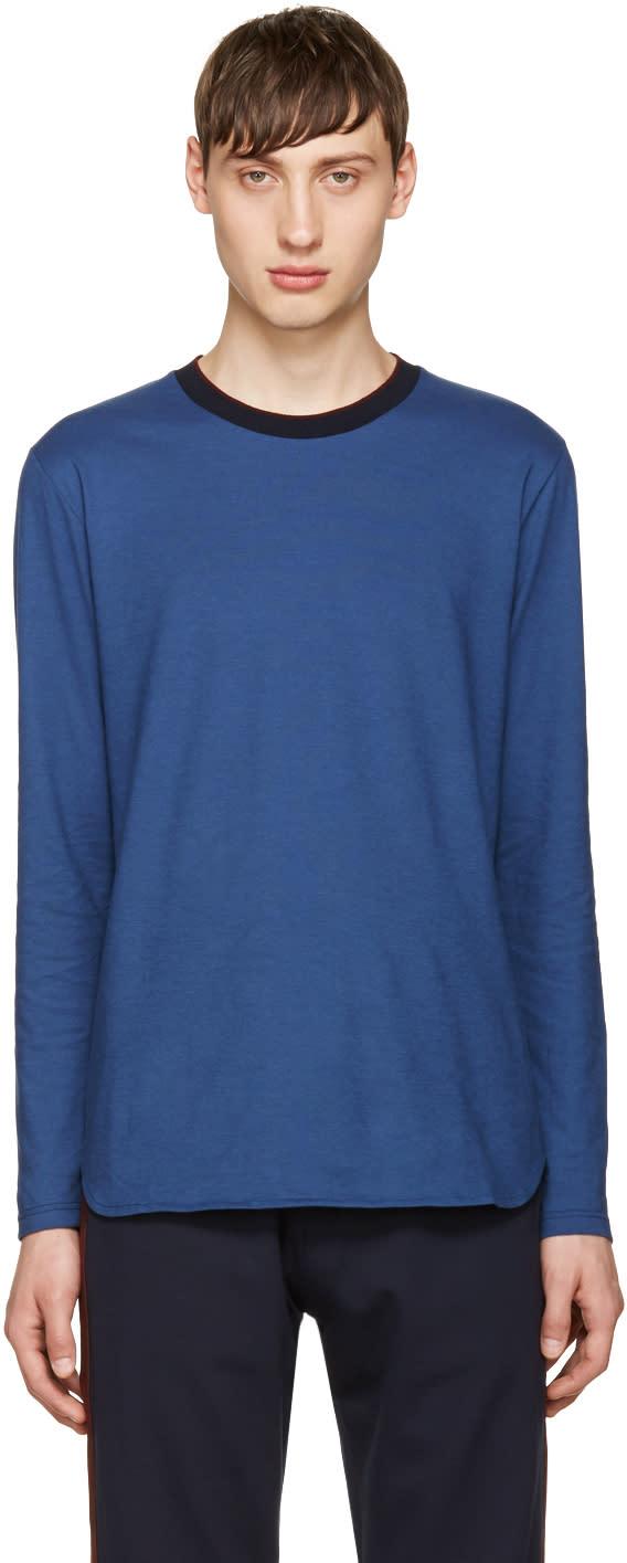 Giuliano Fujiwara Blue Cotton T-shirt