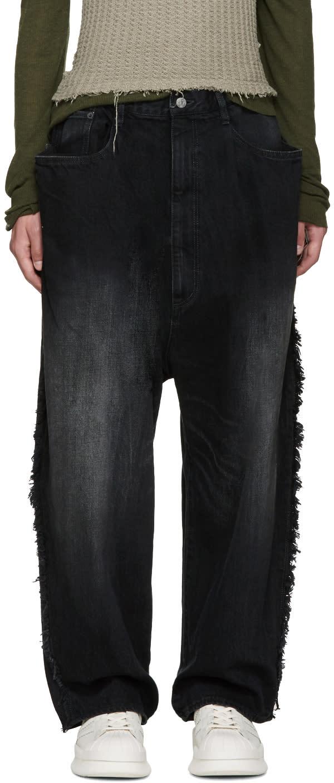 Miharayasuhiro Black Oversized Jeans
