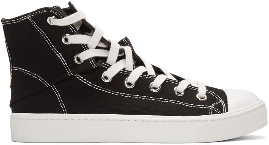 Miharayasuhiro Black Twisted High top Sneakers 3873aa159