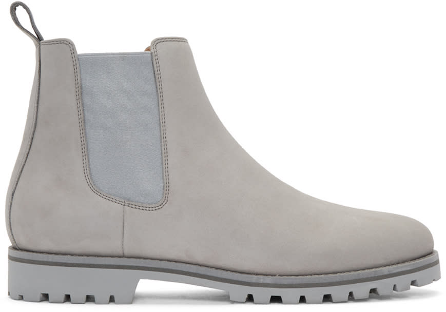 Image of Etq Amsterdam Grey Chelsea Boots