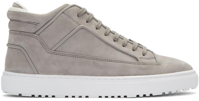 Etq Amsterdam Grey Suede Mid 2 Sneakers