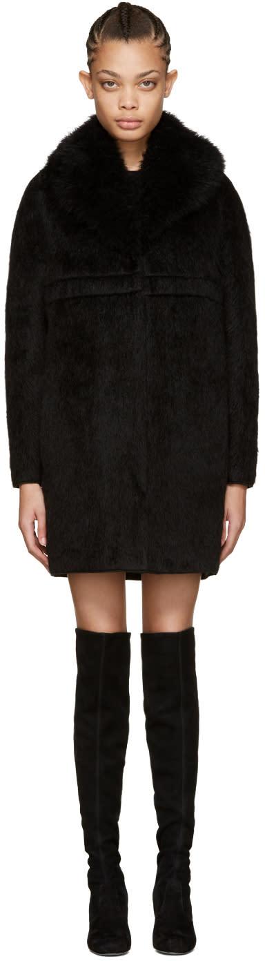 Moncler Gamme Rouge Black Apaca Savoyane Coat