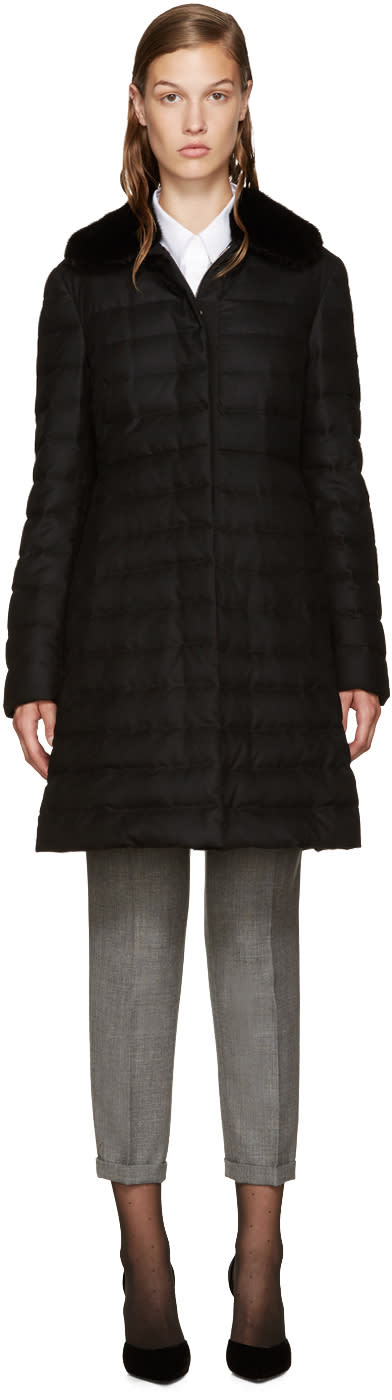 Moncler Gamme Rouge Black Down Anis Coat