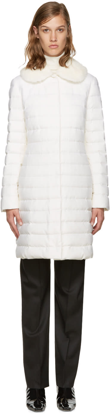 Moncler Gamme Rouge White Down Anis Coat
