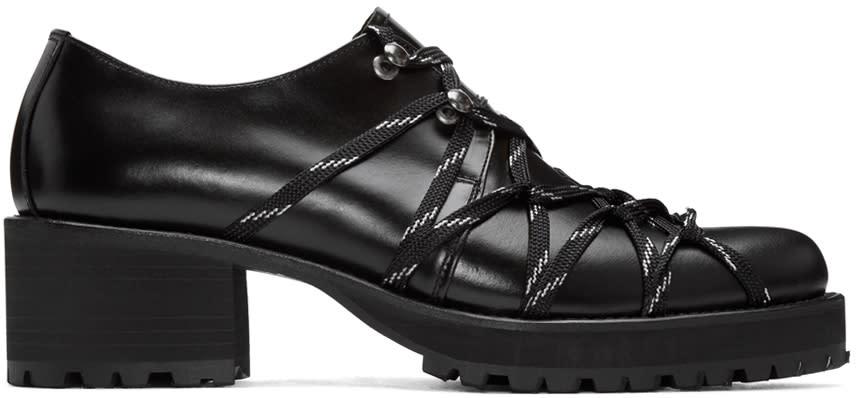 Yohji Yamamoto Black Lace-up Heels